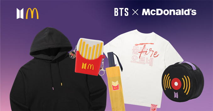 McDonald's x BTS Merchandise and Meal - The Junk Food Duo